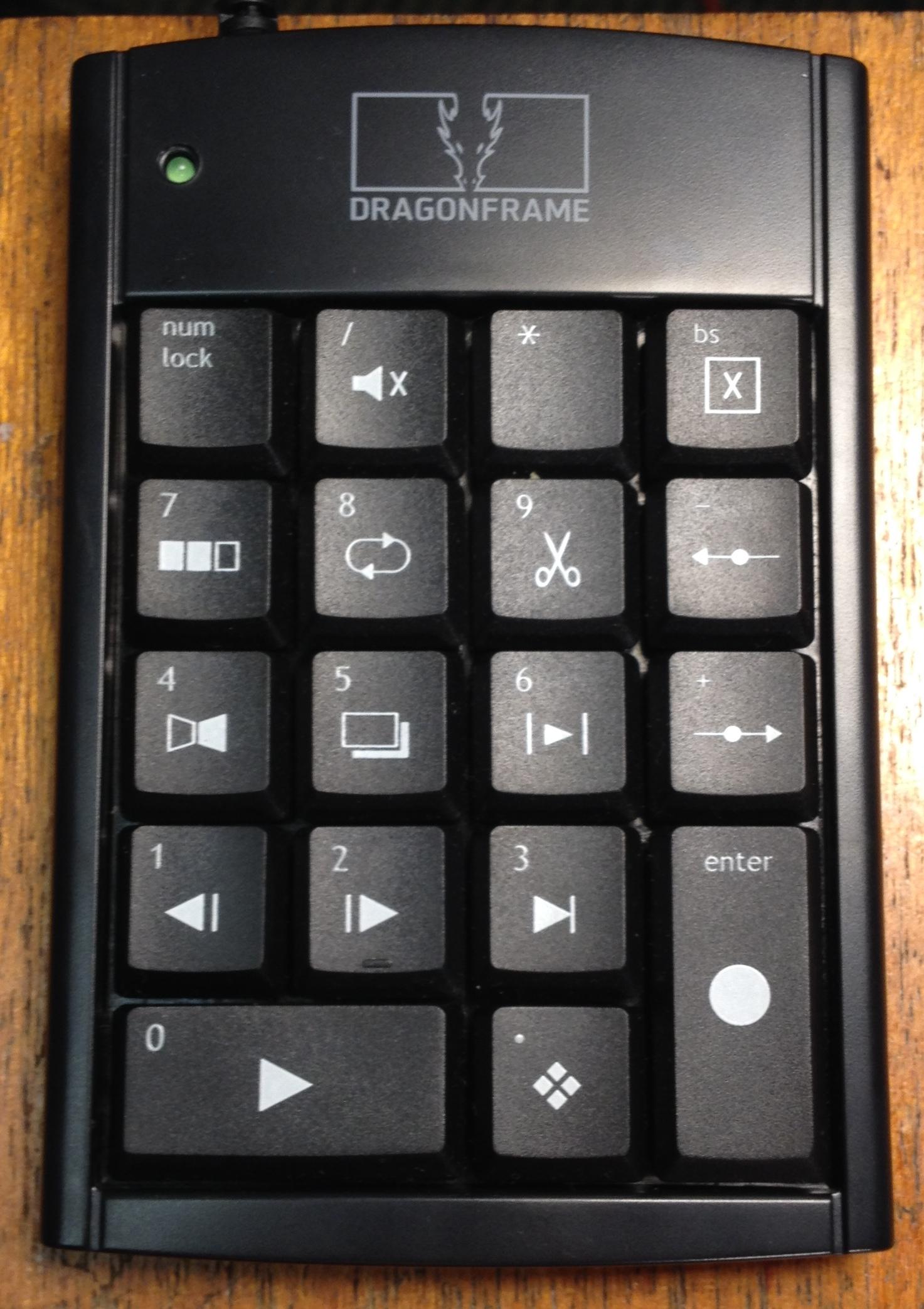 the dragonframe keypad - Dragon Frame